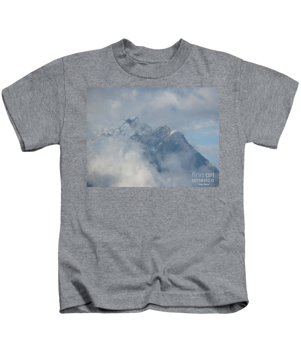 Patzer Kids T-Shirt featuring the photograph Way Up Here by Greg Patzer