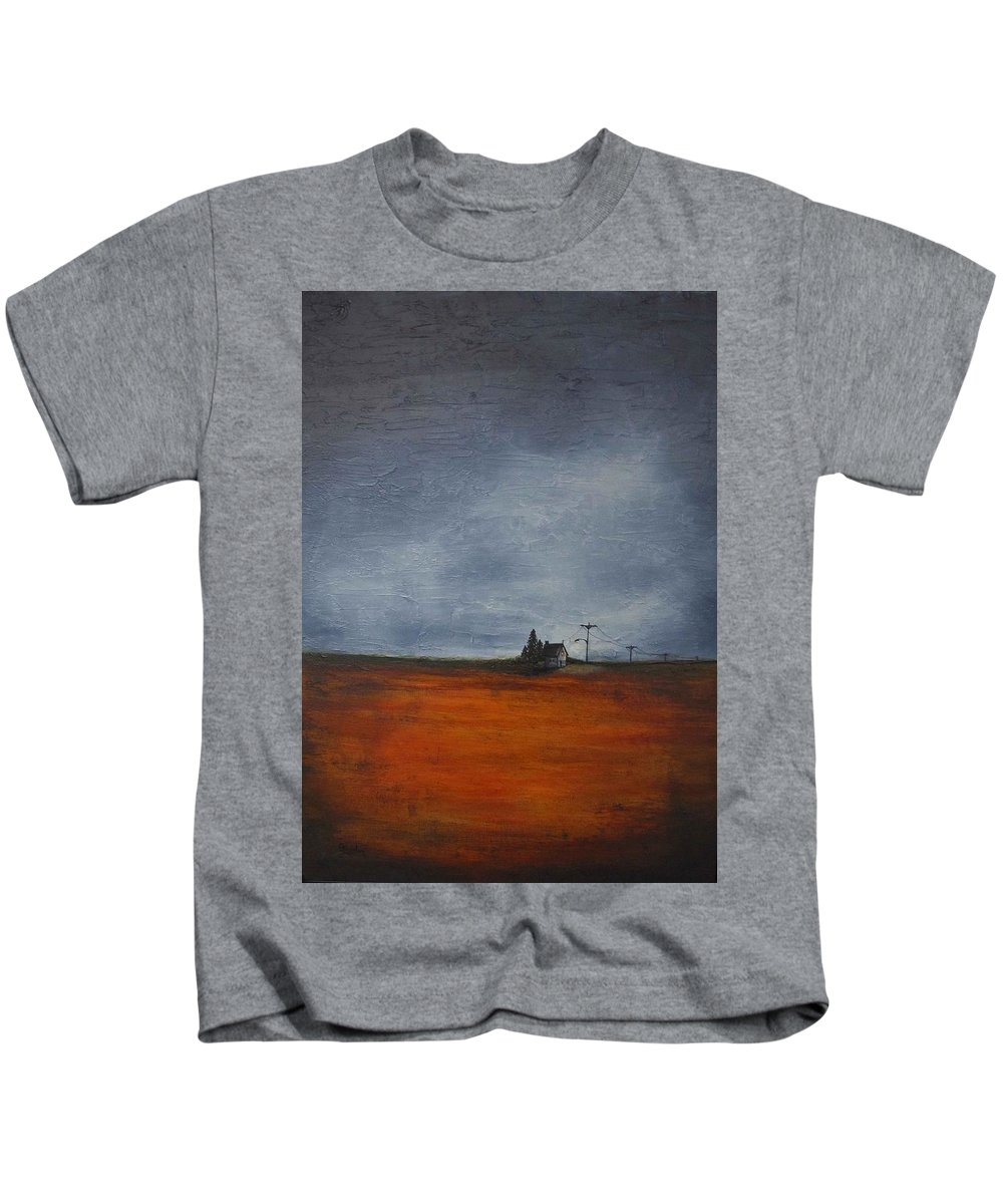 Prairie Kids T-Shirt featuring the painting What If... by Cindy Johnston