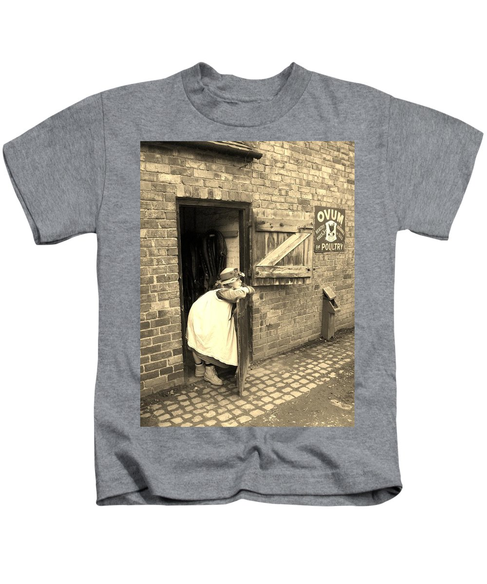 Victorian Kids T-Shirt featuring the photograph What Shall I Do Next? by Asa Jones