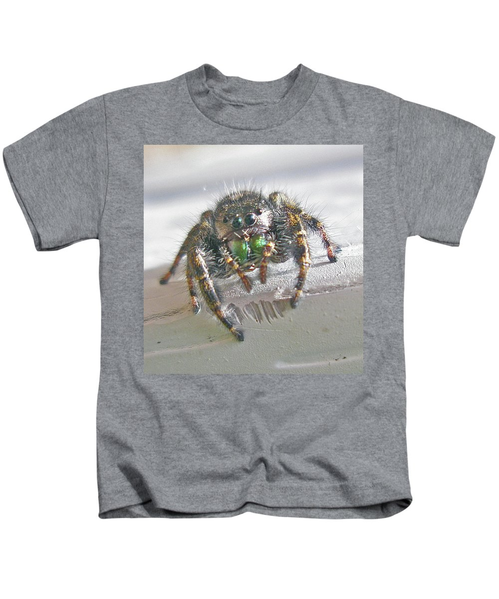 Spider Kids T-Shirt featuring the photograph Where'd You Get Those Eyes by Mother Nature