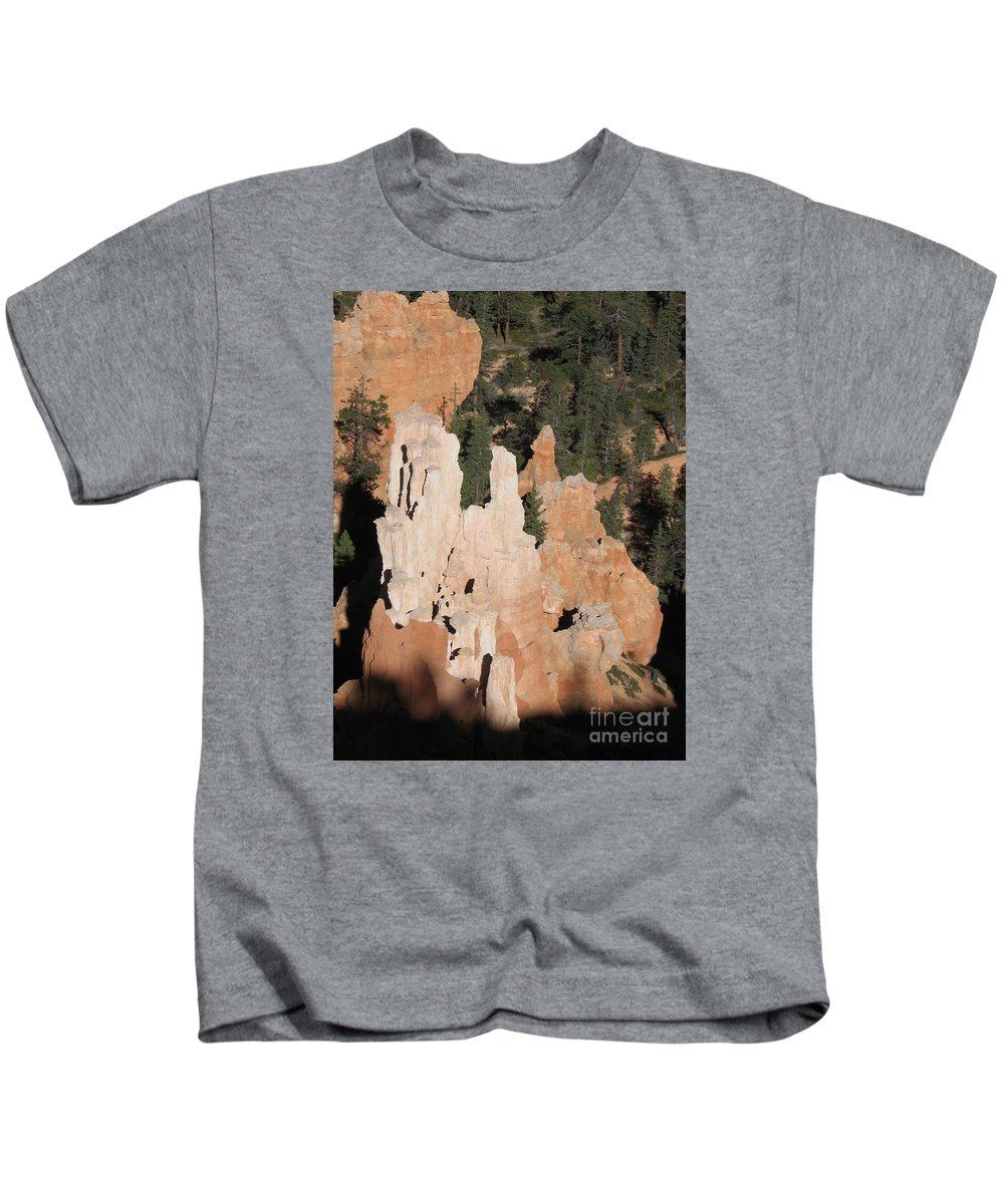 Rocks Kids T-Shirt featuring the photograph White And Red Rocks Of Bryce Np by Christiane Schulze Art And Photography