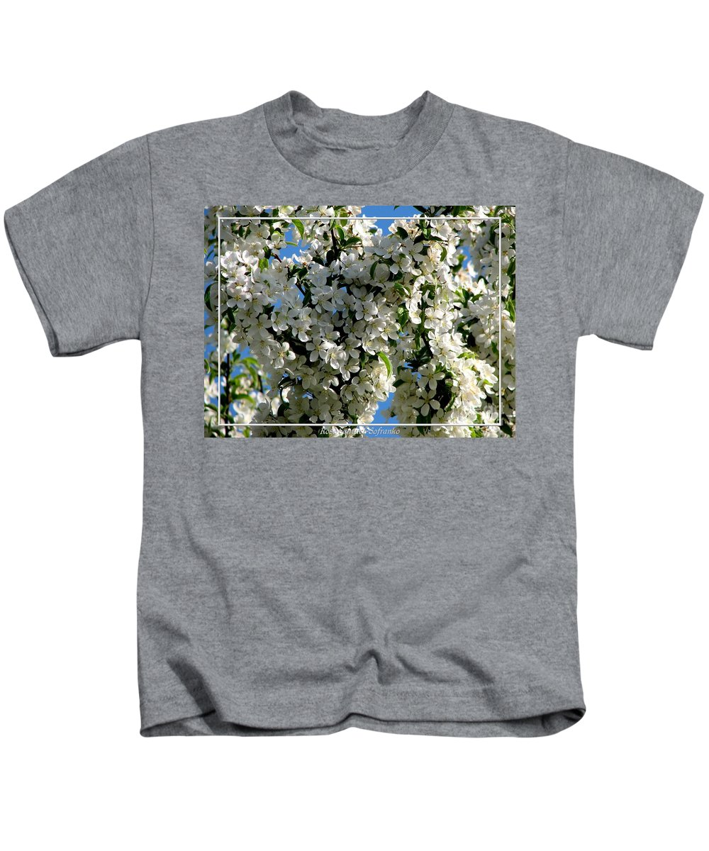Crabapple Kids T-Shirt featuring the photograph White Flowering Crabapple Tree by Rose Santuci-Sofranko