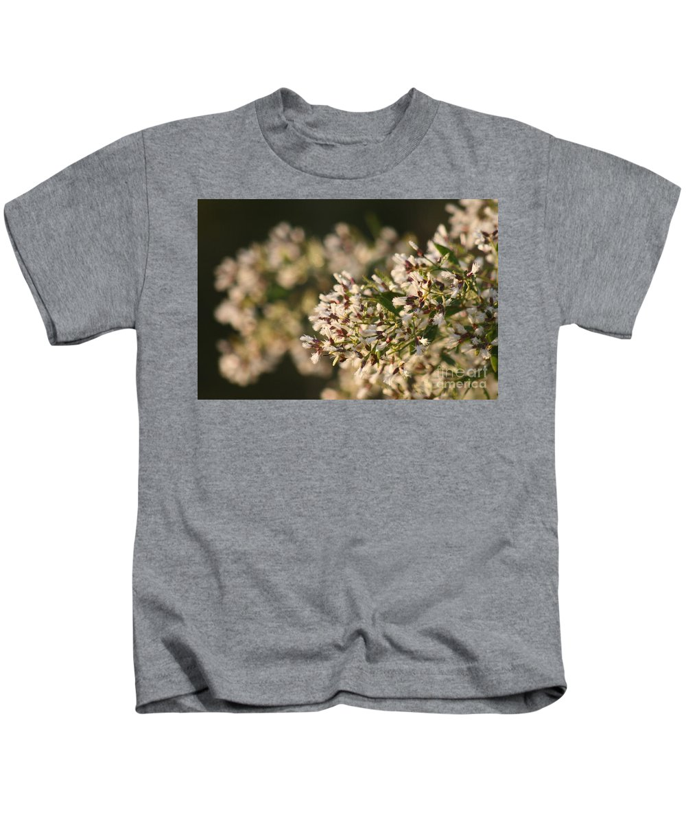 White Kids T-Shirt featuring the photograph White Flowers by Nadine Rippelmeyer