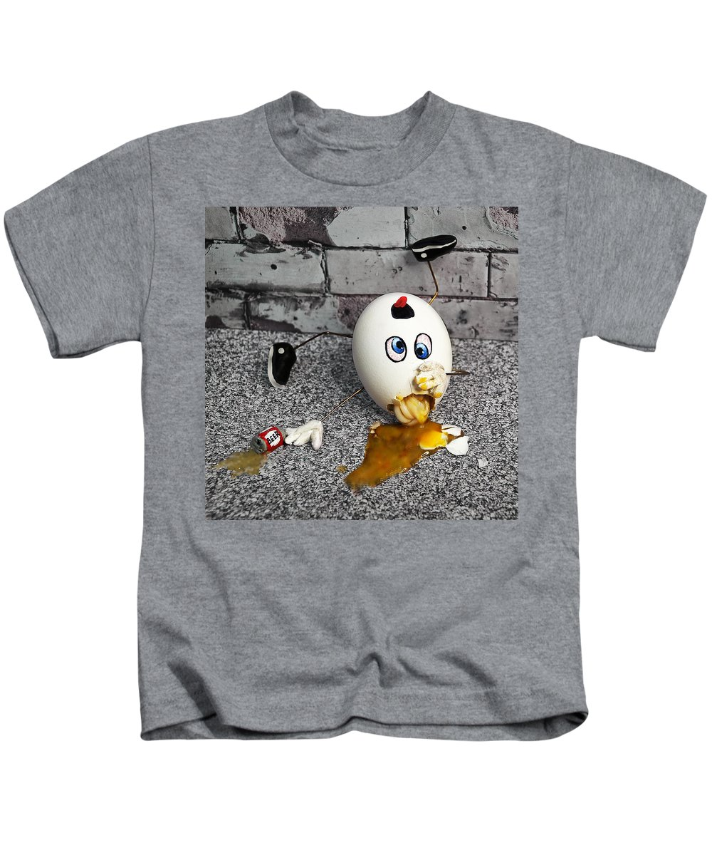 Humpty Kids T-Shirt featuring the photograph Why Humpty Fell by Rick Mosher