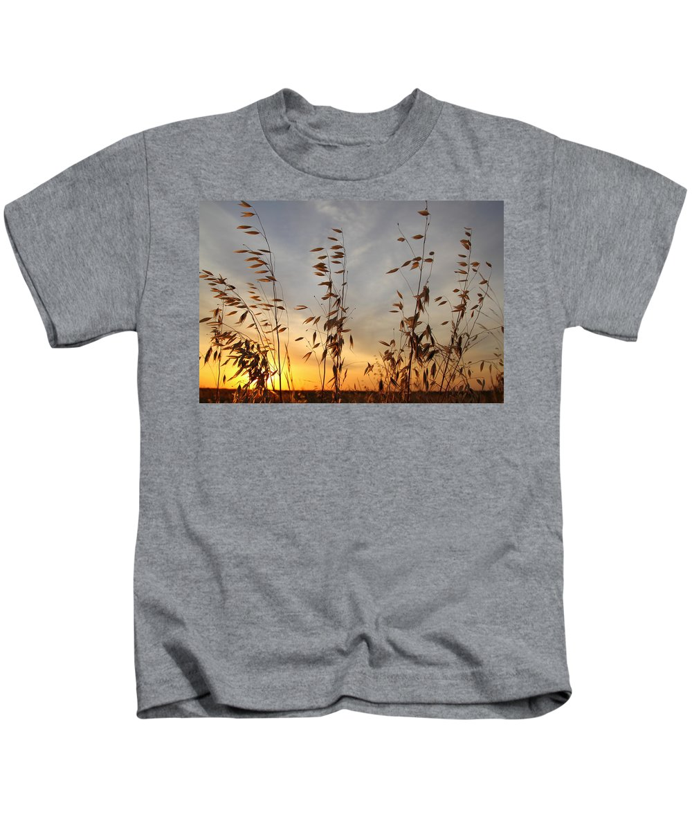 Wild Oats Kids T-Shirt featuring the photograph Wild Oats 2am-110425 by Andrew McInnes