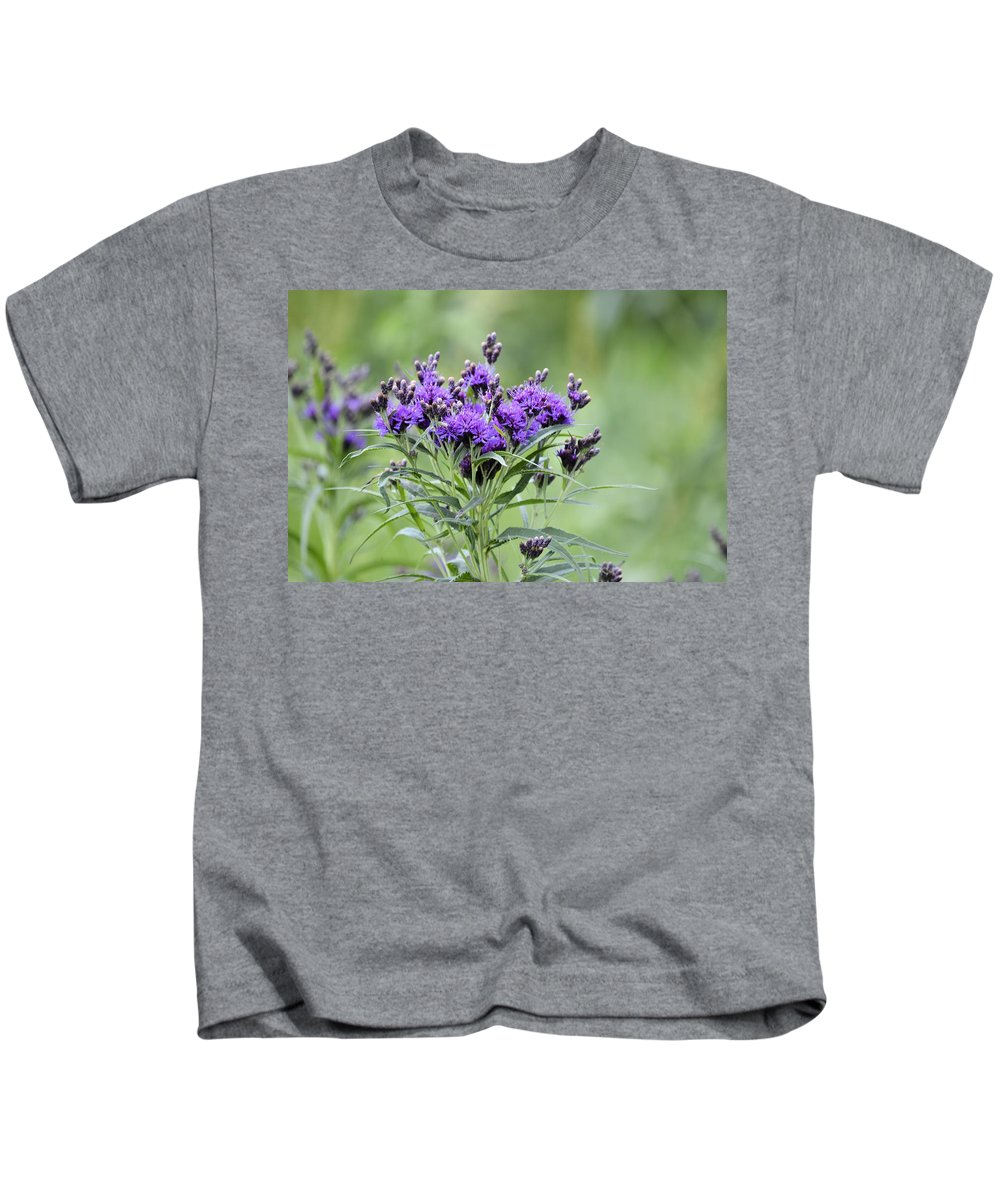 Wildflower Kids T-Shirt featuring the photograph Wild Purple by Bonfire Photography