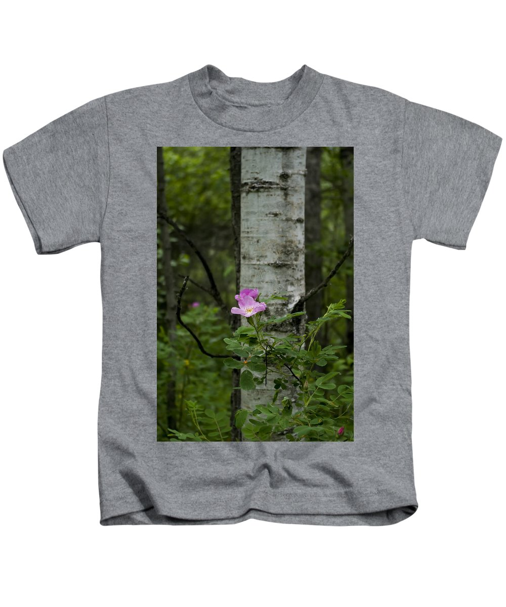 Photograph Kids T-Shirt featuring the photograph Wild Rose by Rhonda McDougall