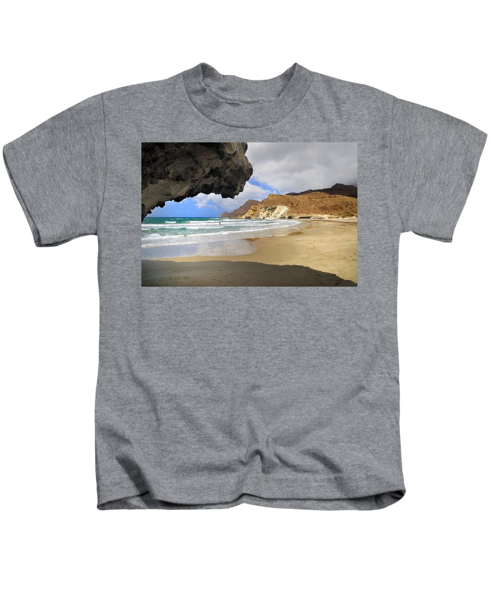 Landscape Kids T-Shirt featuring the photograph Wild Swim by Guido Montanes Castillo