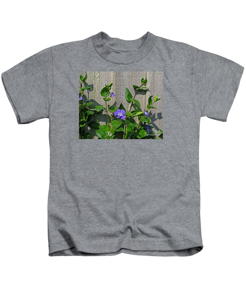 Purple Kids T-Shirt featuring the photograph Wildly Purple by Ann Horn