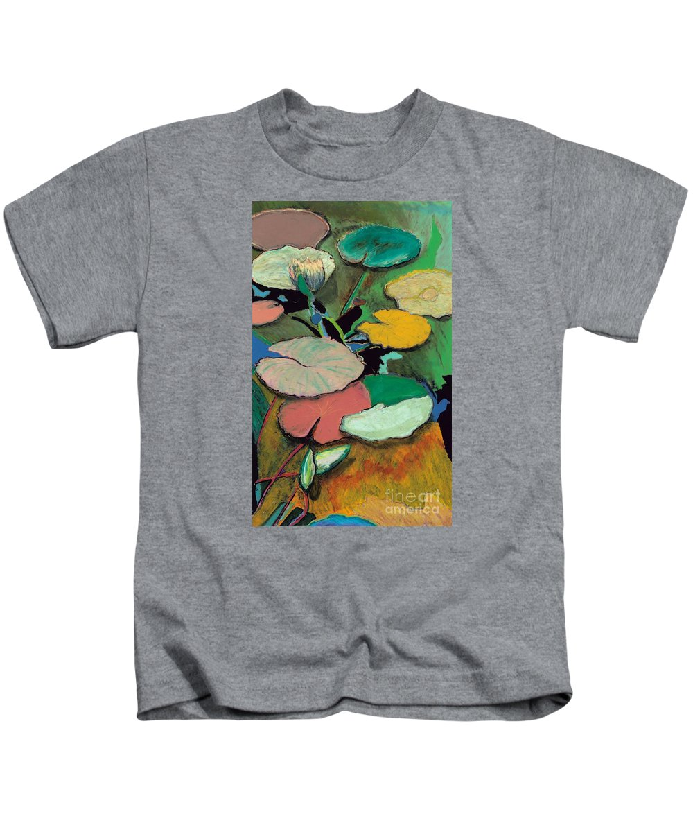 Landscape Kids T-Shirt featuring the painting Windchime Spring by Allan P Friedlander