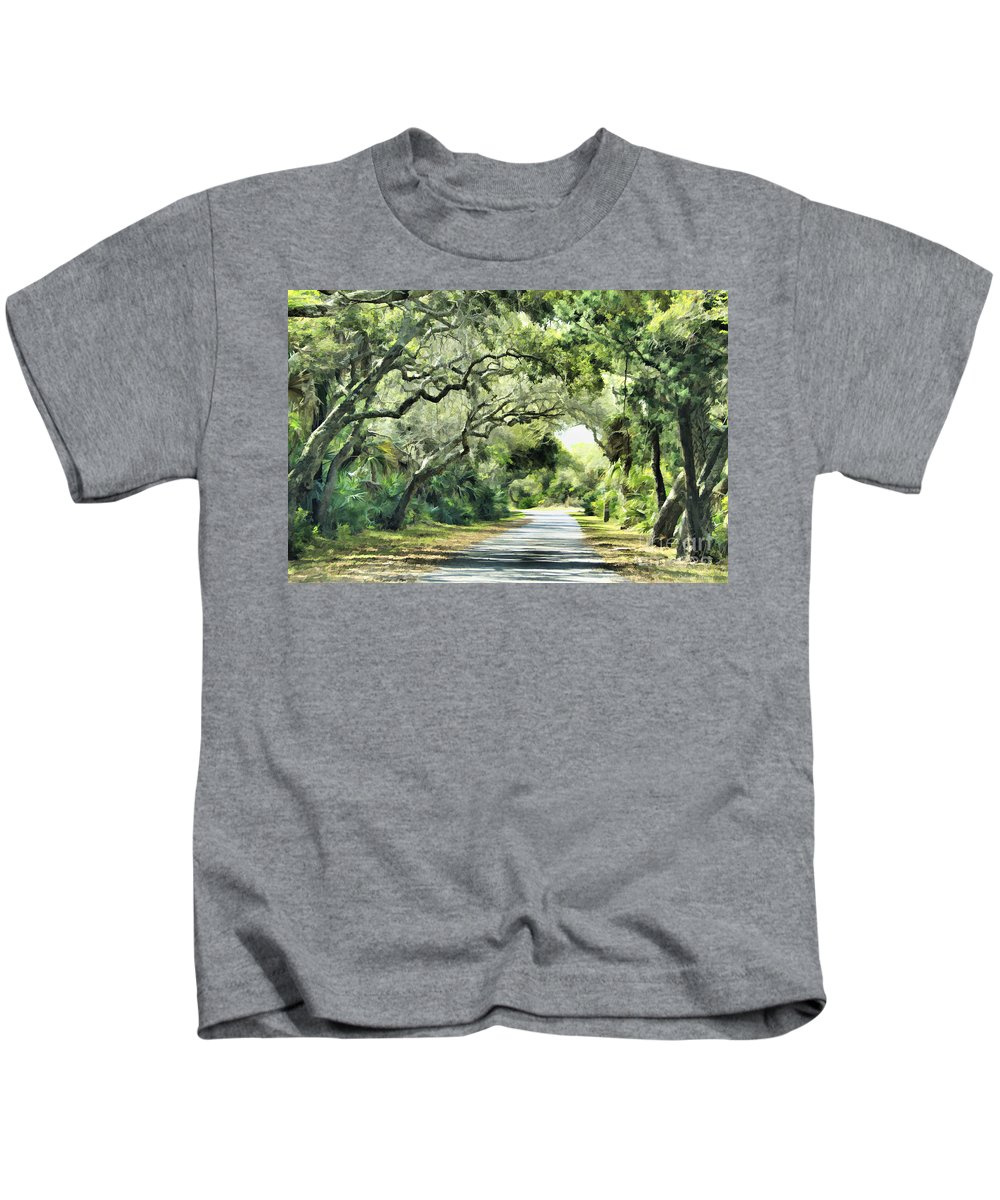 Road Kids T-Shirt featuring the photograph Winding Path by Deborah Benoit
