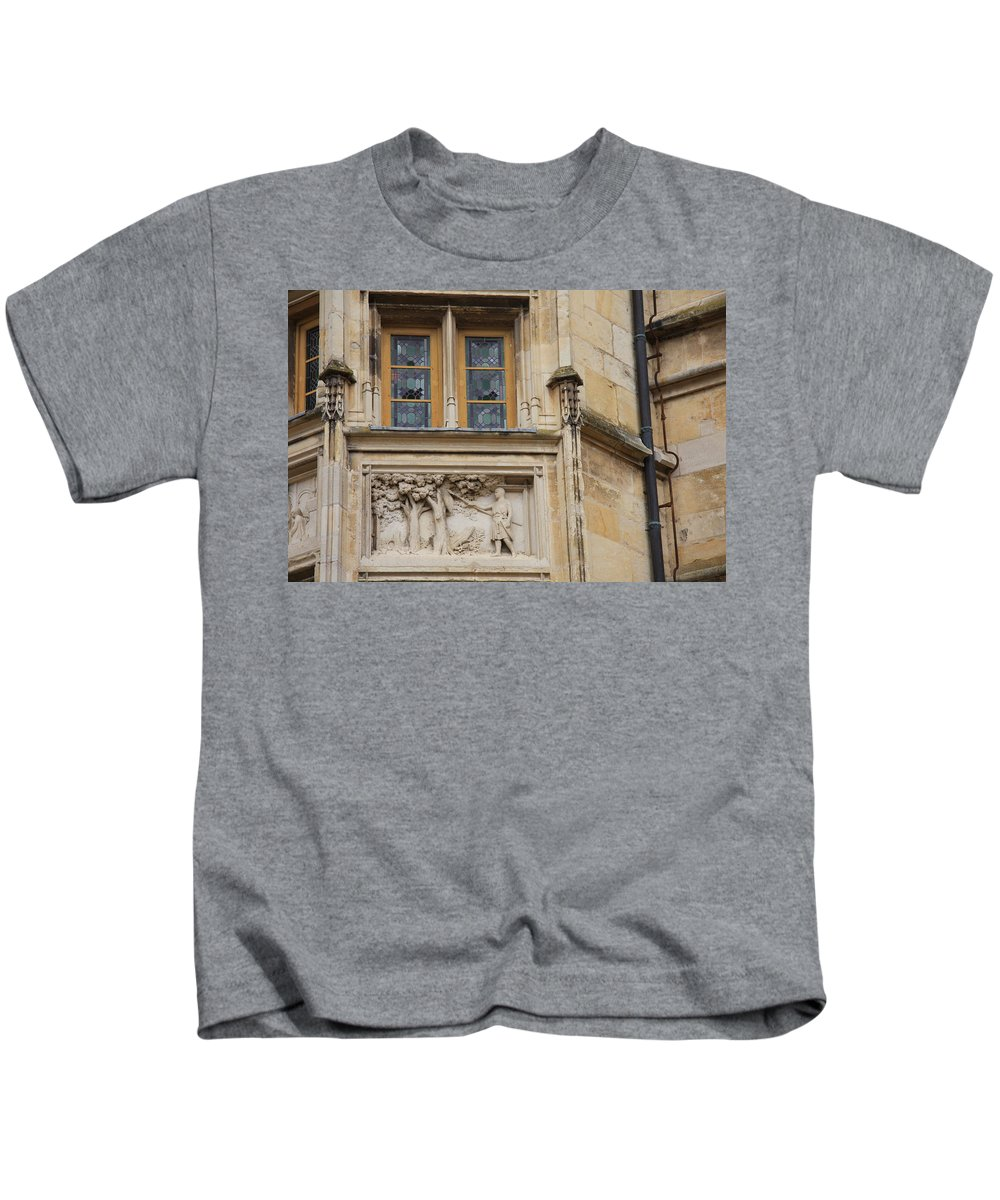 Window Kids T-Shirt featuring the photograph Window And Relief Palace Ducal by Christiane Schulze Art And Photography