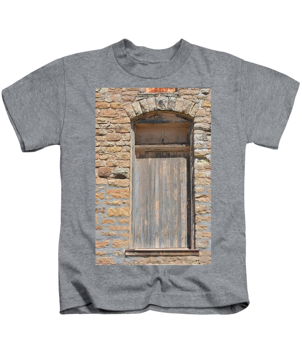 Door Kids T-Shirt featuring the photograph Window To The Past by Gale Cochran-Smith