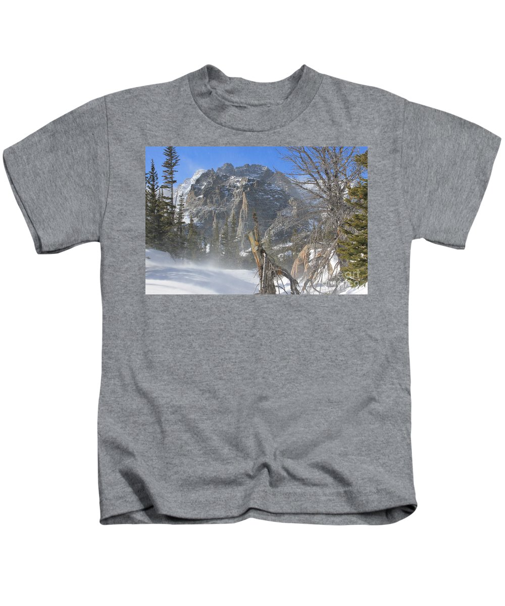 Winter Kids T-Shirt featuring the photograph Winter At Loch Vale 3 by Tonya Hance