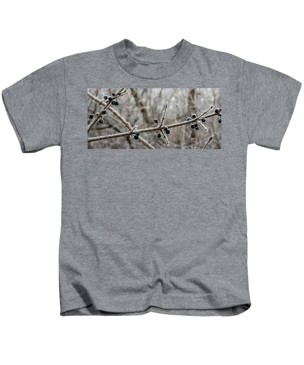 Winter Kids T-Shirt featuring the photograph Winter Frost by Angie Schutt