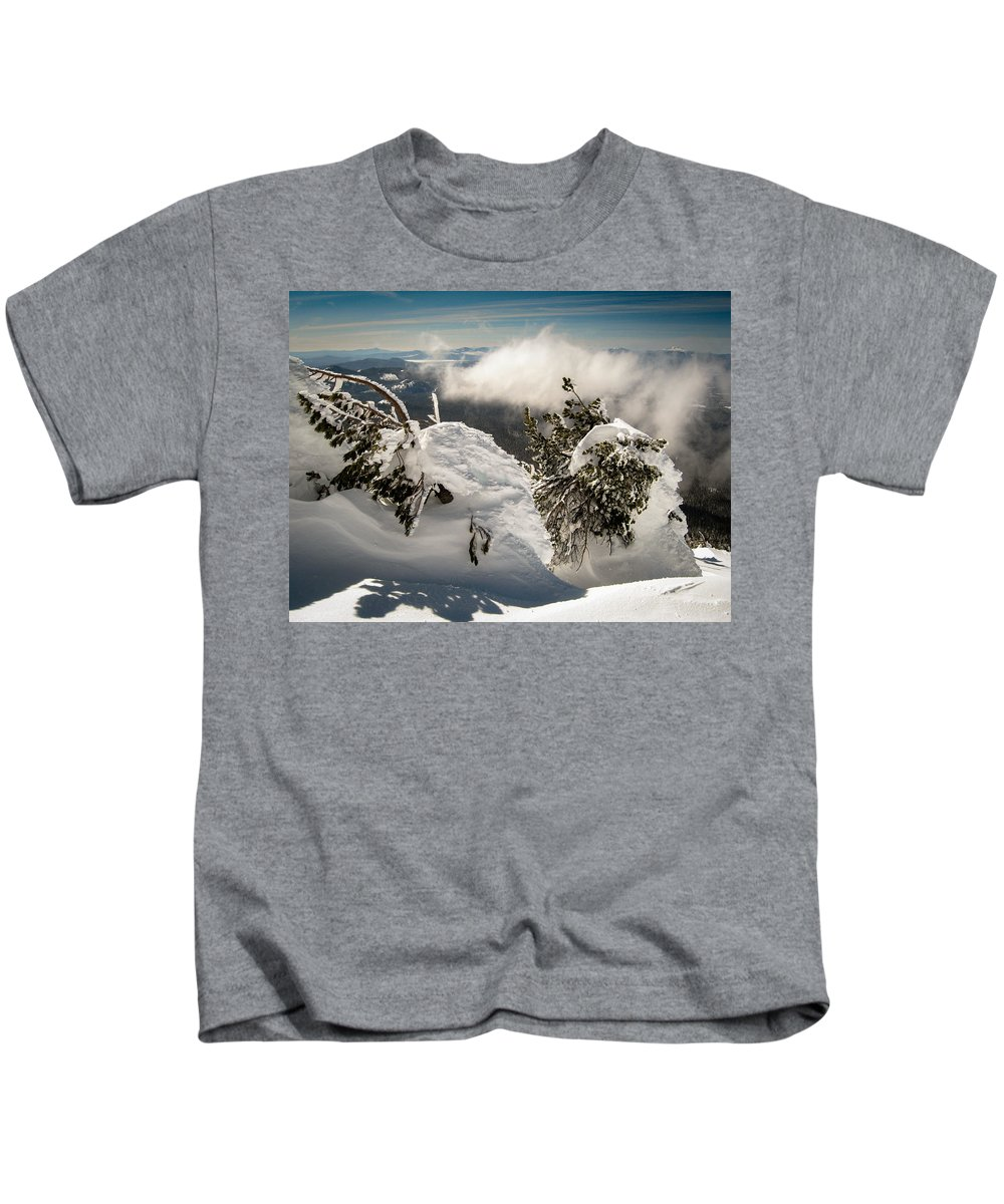 Oregon Kids T-Shirt featuring the photograph Winter On Mt. Bachelor by Helix Games Photography