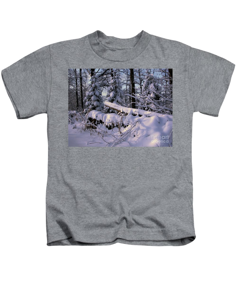 Timothy Hacker Kids T-Shirt featuring the photograph Winter Solemn by Timothy Hacker