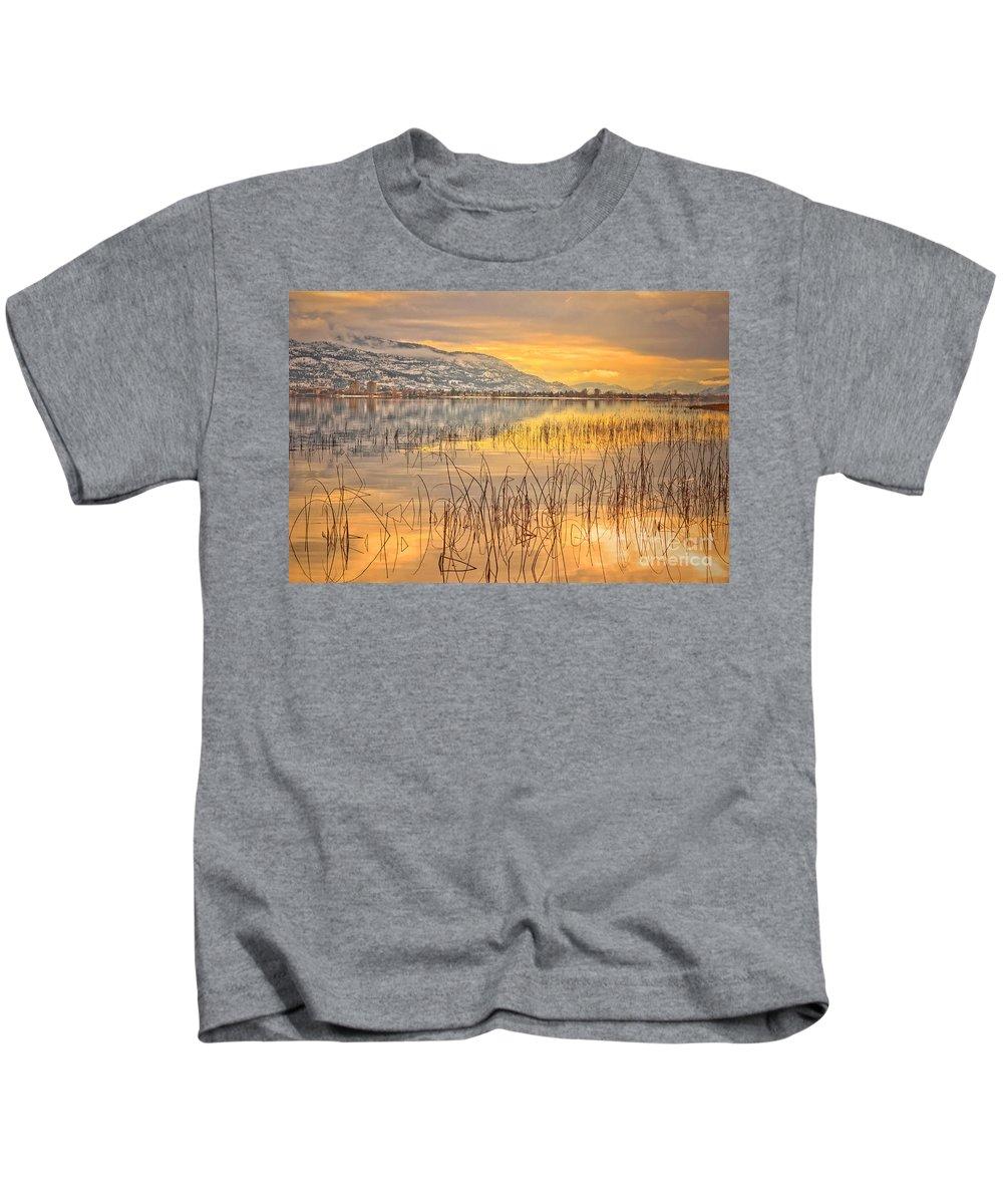 Okanagan Kids T-Shirt featuring the photograph Winter Solstice 5 by Tara Turner