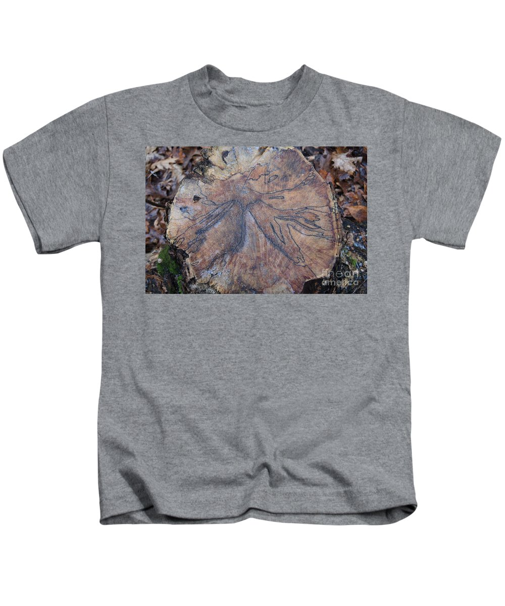 Trees Kids T-Shirt featuring the photograph Wood Design by Jeffery L Bowers