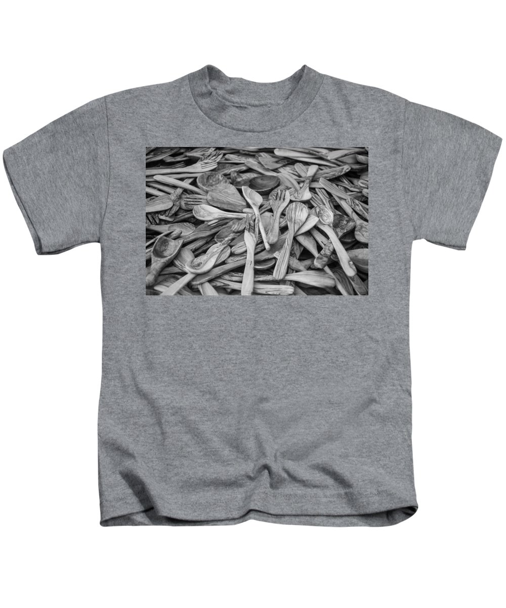 Spoon Kids T-Shirt featuring the photograph Wooden Flatware by Ralf Kaiser