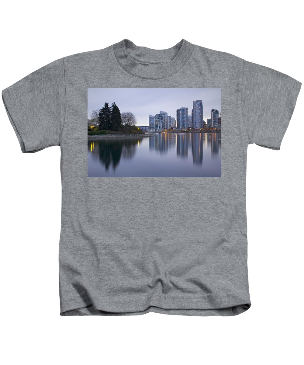 Yaletown Kids T-Shirt featuring the photograph Yaletown by Genaro Rojas