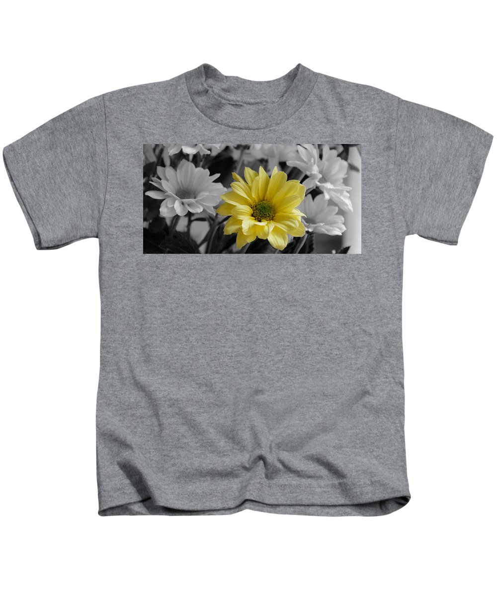 Flowr Kids T-Shirt featuring the photograph Yellow Flower by Russell Sherwood