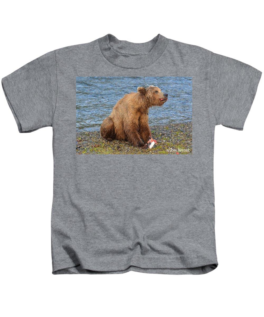 Alaska Kids T-Shirt featuring the photograph Yummy Salmon by Joan Wallner