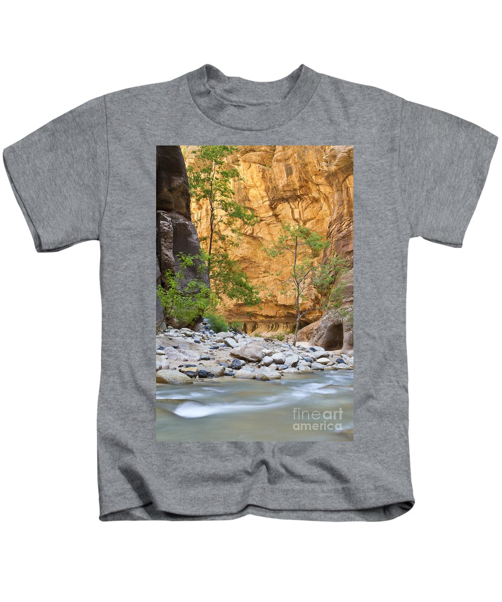 Zion Kids T-Shirt featuring the photograph Zion Narrows by Bryan Keil