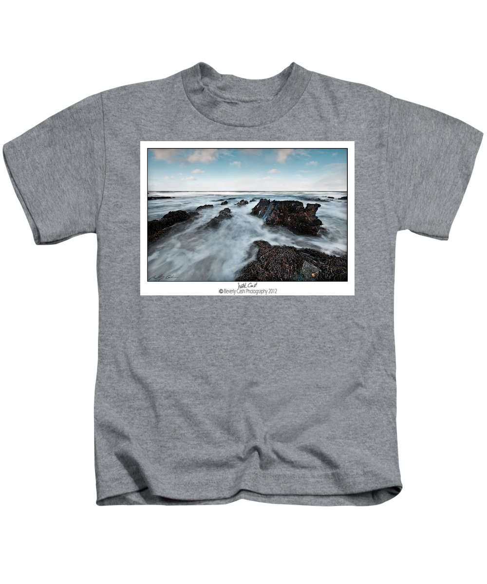 Seascape Kids T-Shirt featuring the photograph Welsh Coast by Beverly Cash