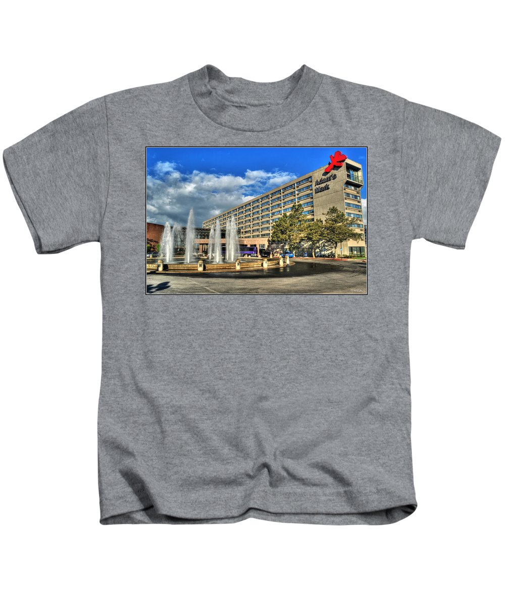 Kids T-Shirt featuring the photograph 014 Wakening Architectural Dynamics by Michael Frank Jr