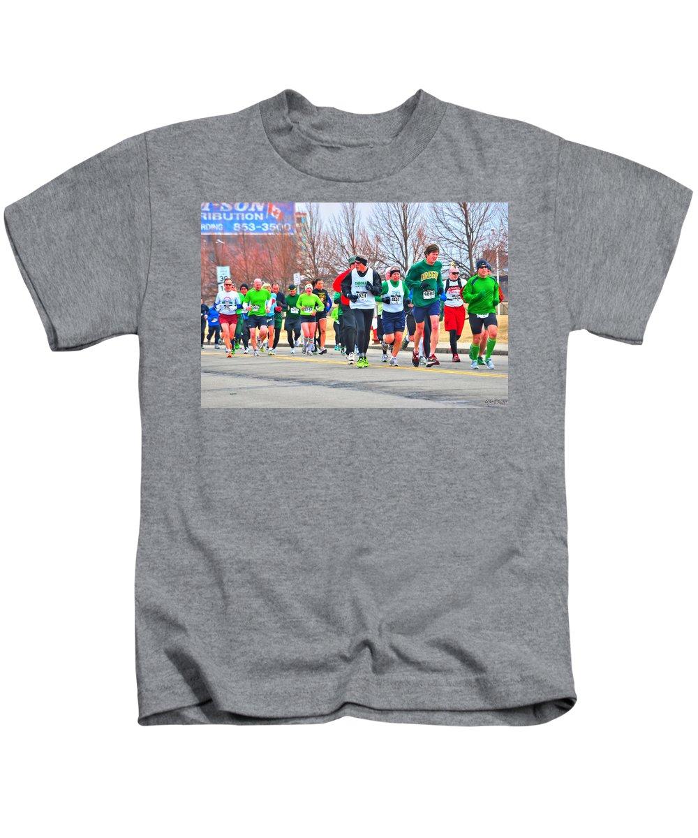 Kids T-Shirt featuring the photograph 021 Shamrock Run Series by Michael Frank Jr