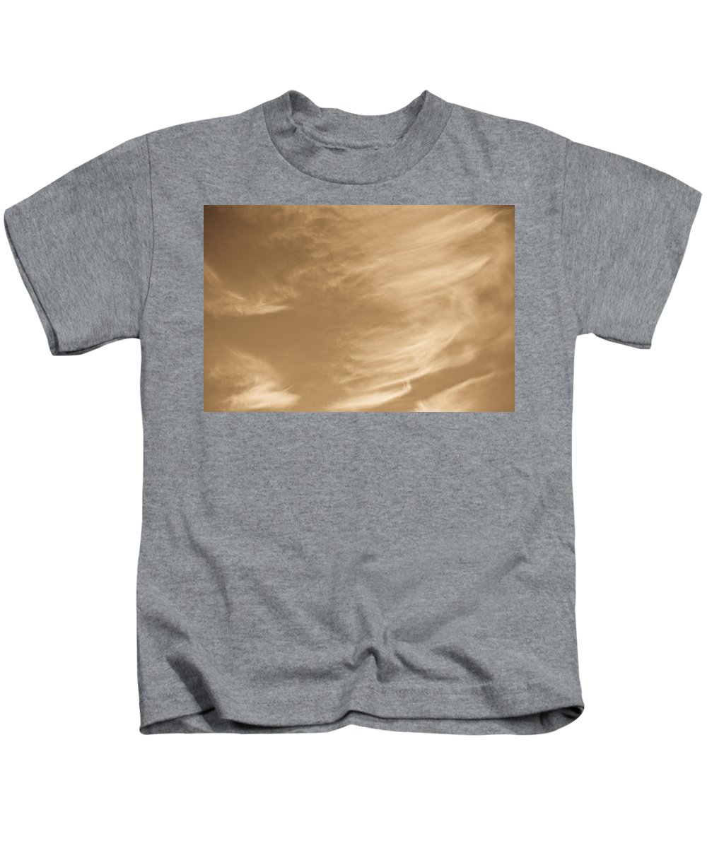 Clouds Kids T-Shirt featuring the photograph Coffee Clouds by David Pyatt