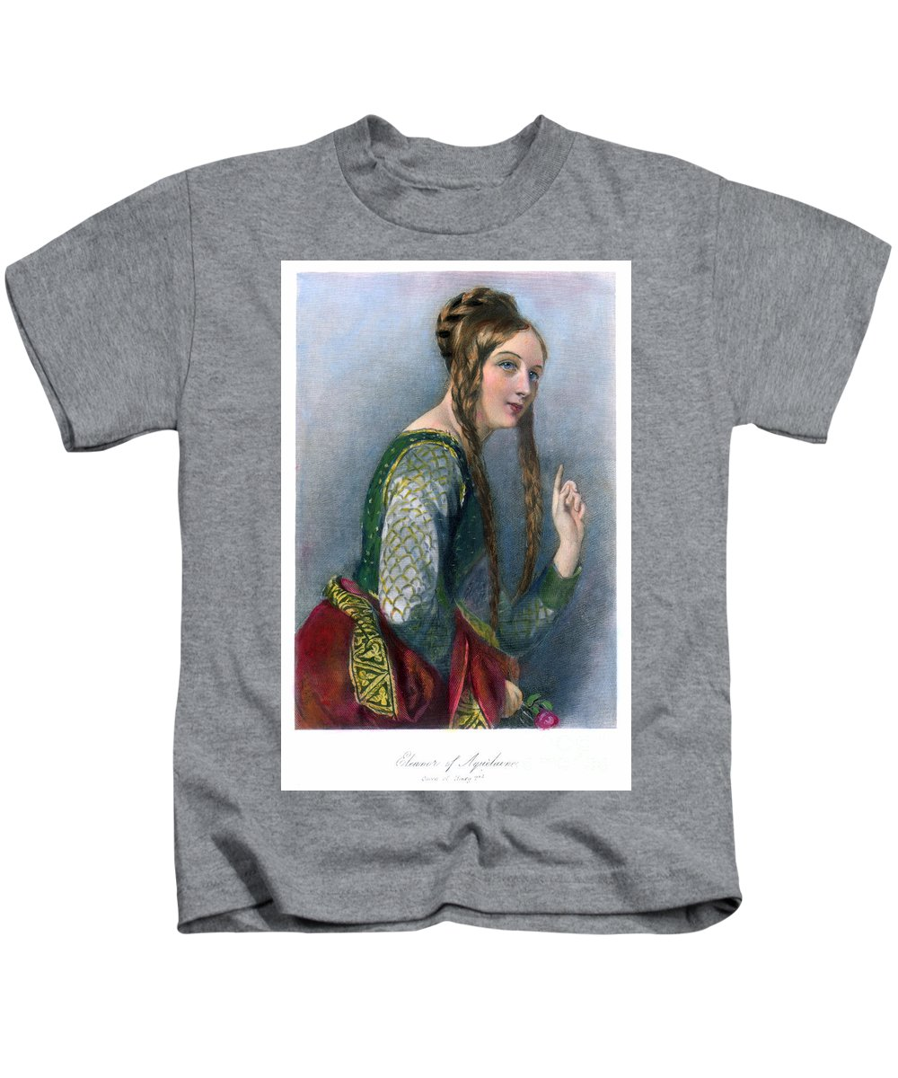 12th Century Kids T-Shirt featuring the photograph Eleanor Of Aquitaine by Granger