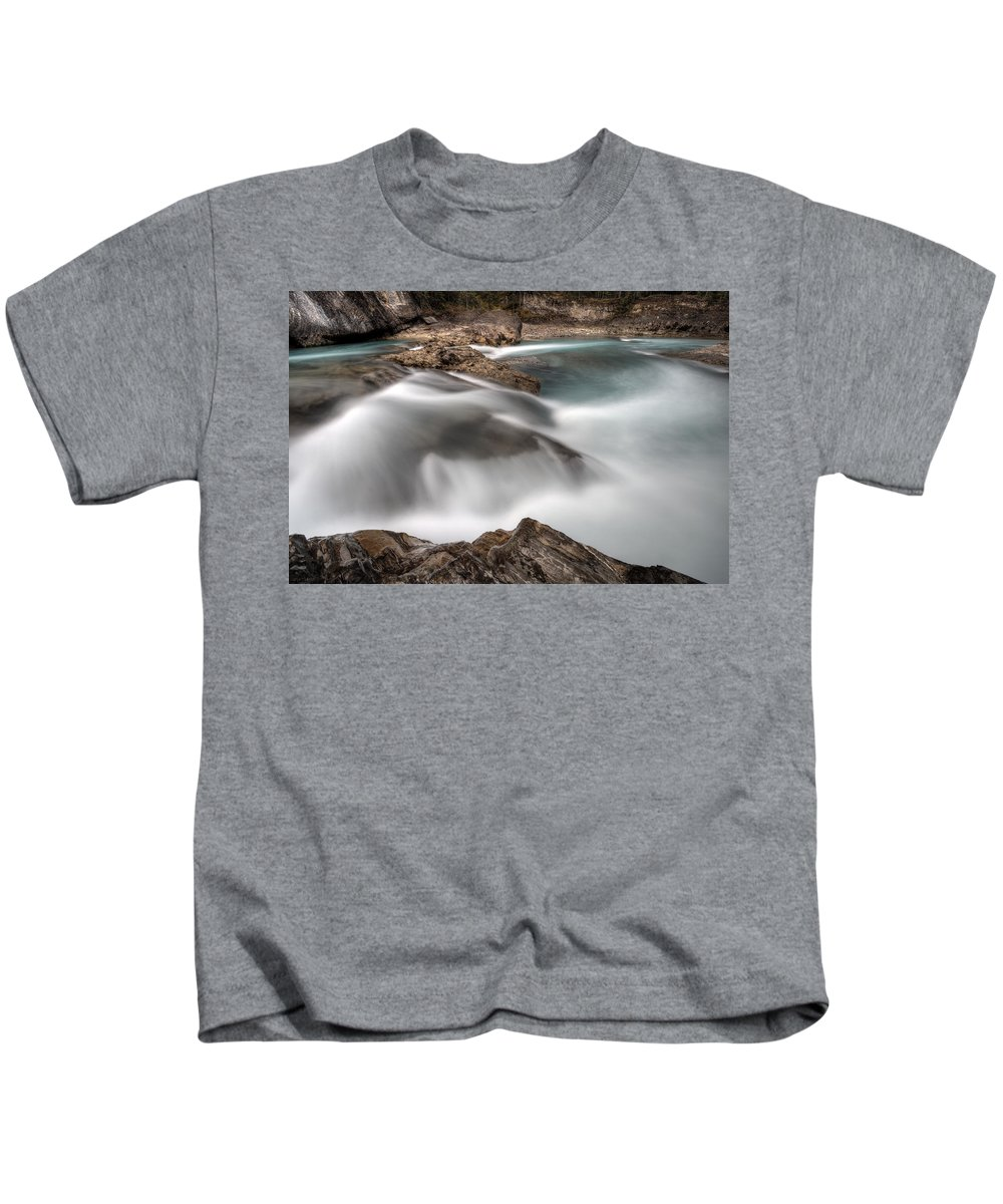 Park Kids T-Shirt featuring the digital art Natural Bridge Yoho National Park by Mark Duffy