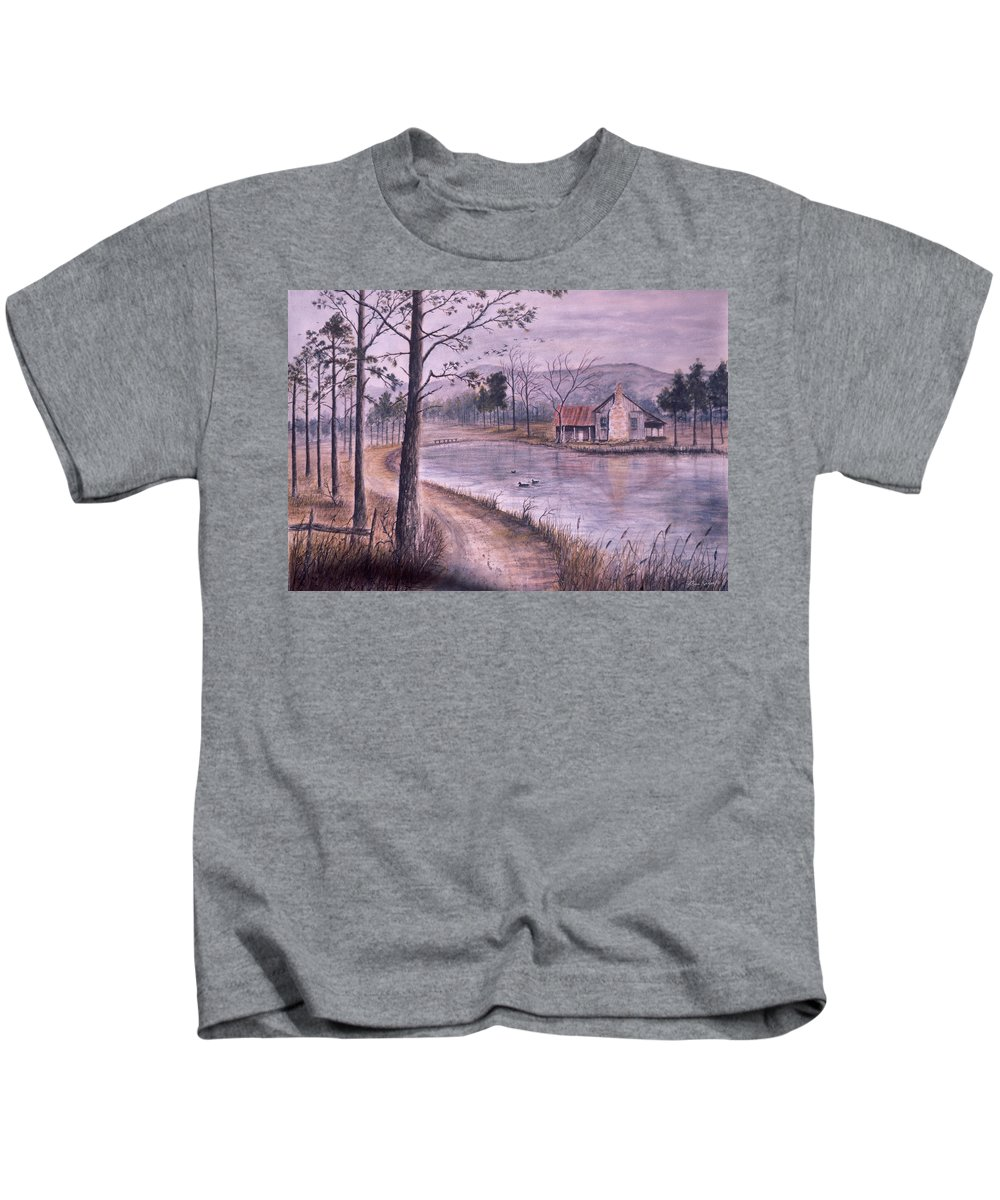 Morning Kids T-Shirt featuring the painting South Carolina Morning by Ben Kiger