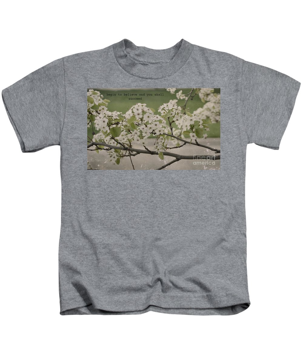 Begin To Believe Kids T-Shirt featuring the photograph Vintage Spring by Traci Cottingham