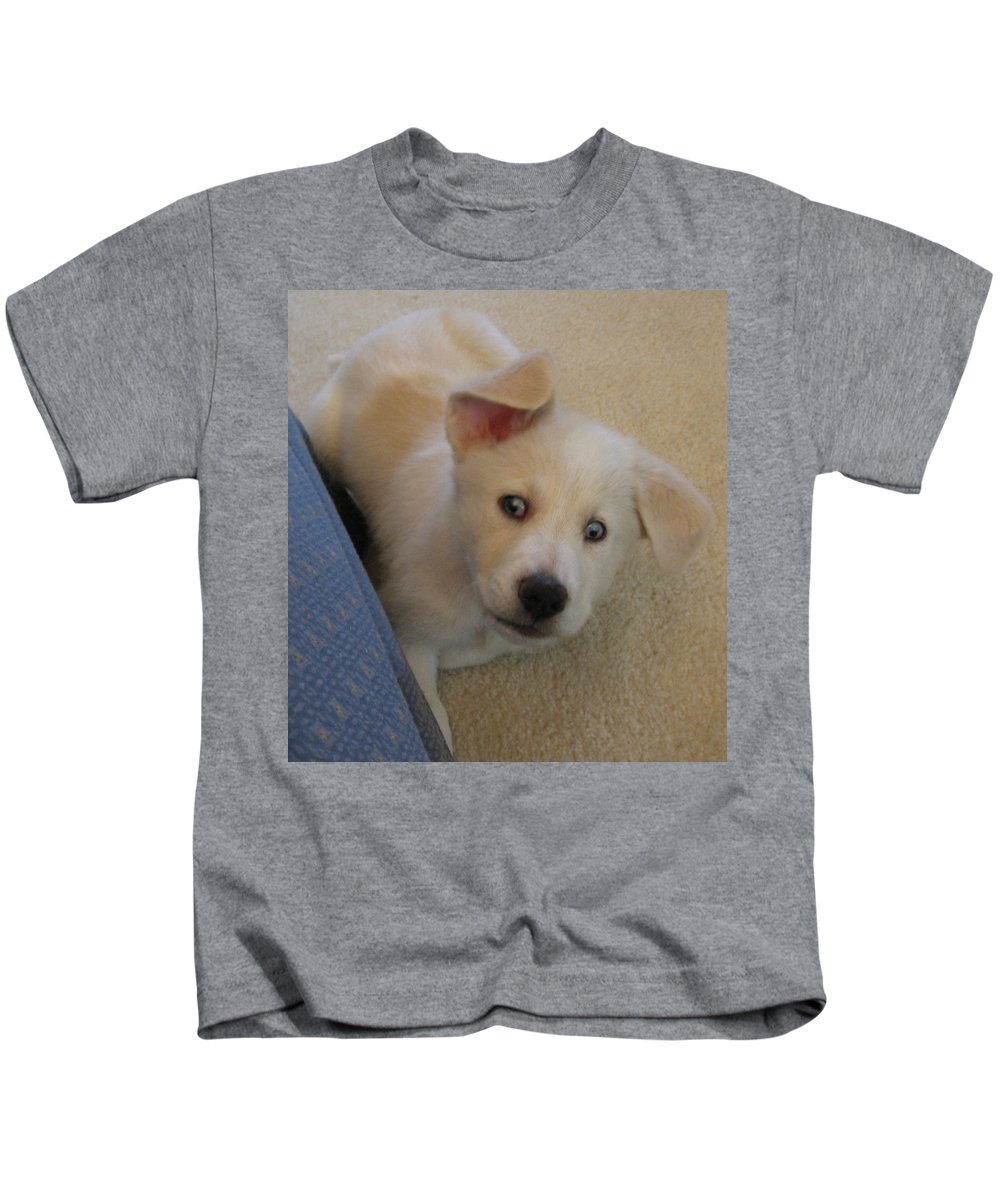 Kids T-Shirt featuring the photograph What by Amy Hosp