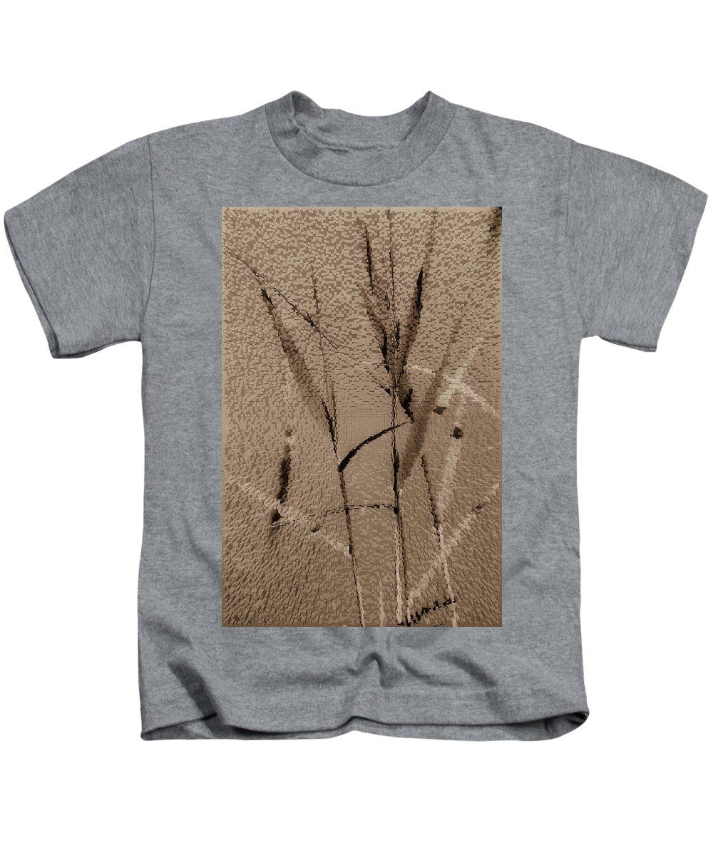Art Kids T-Shirt featuring the digital art Water Reed Digital Art by David Pyatt