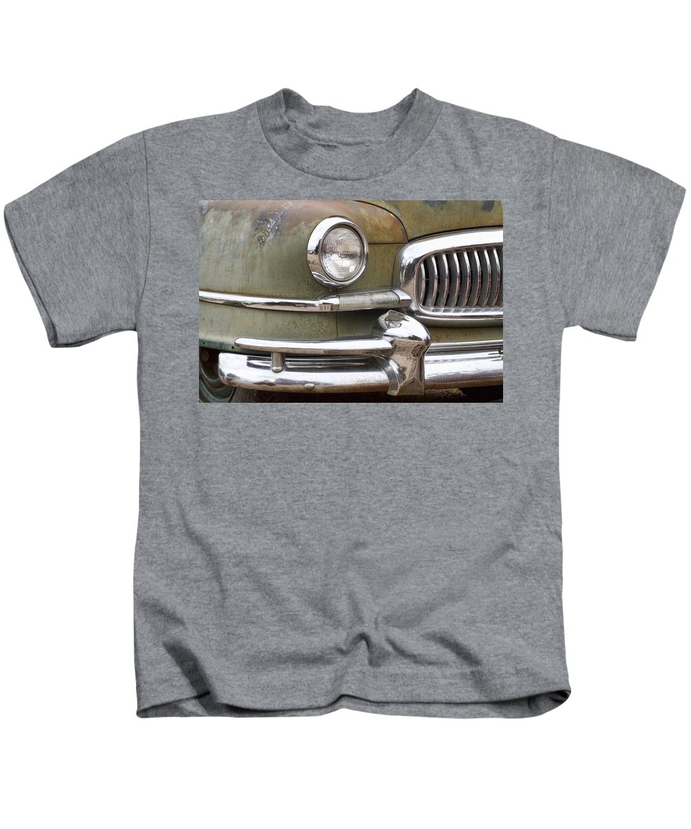 1951 Kids T-Shirt featuring the photograph 1951 Nash Ambassador by James BO Insogna