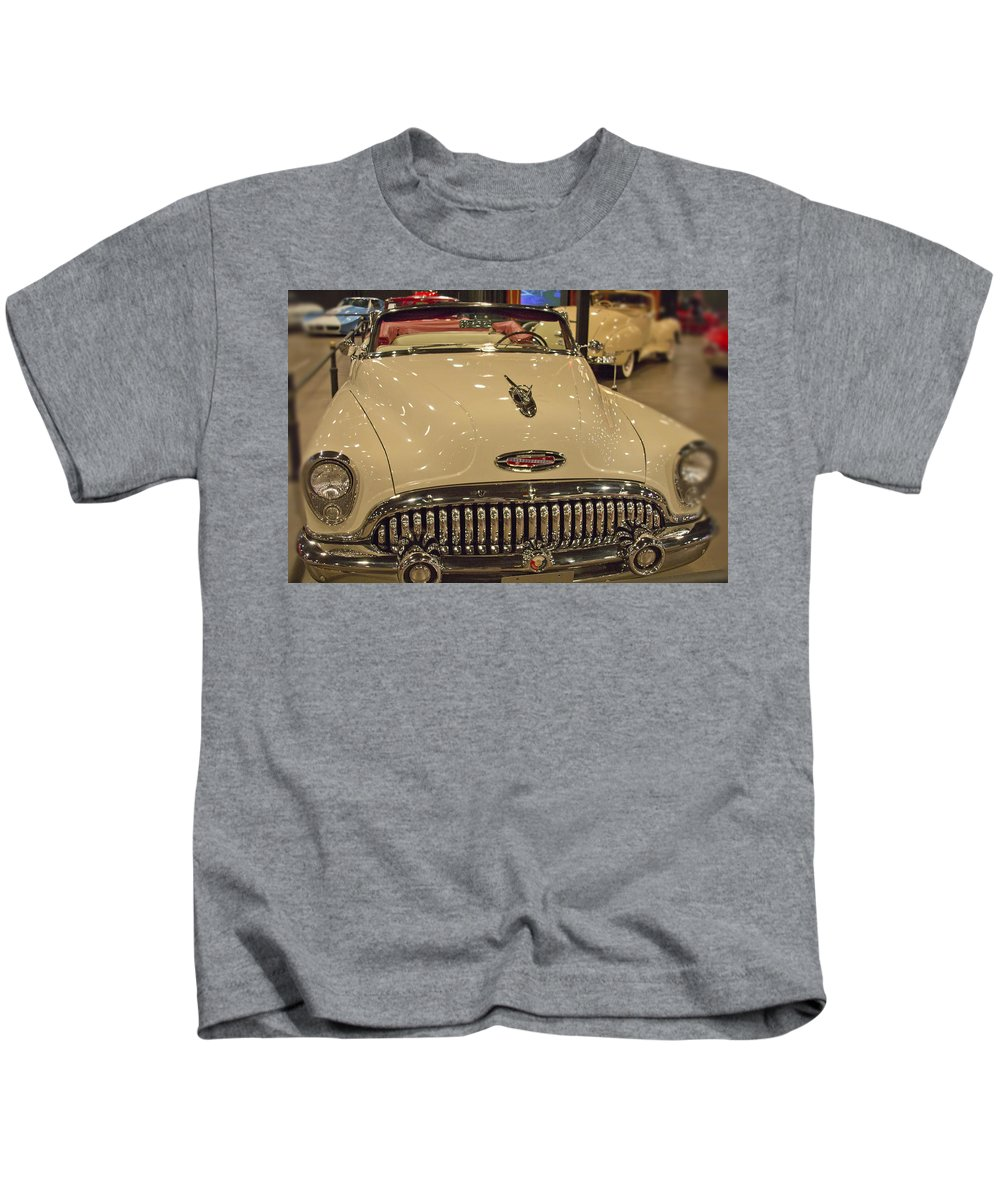 1953 Kids T-Shirt featuring the photograph 1953 Buick Skylark Convertible by Douglas Barnard