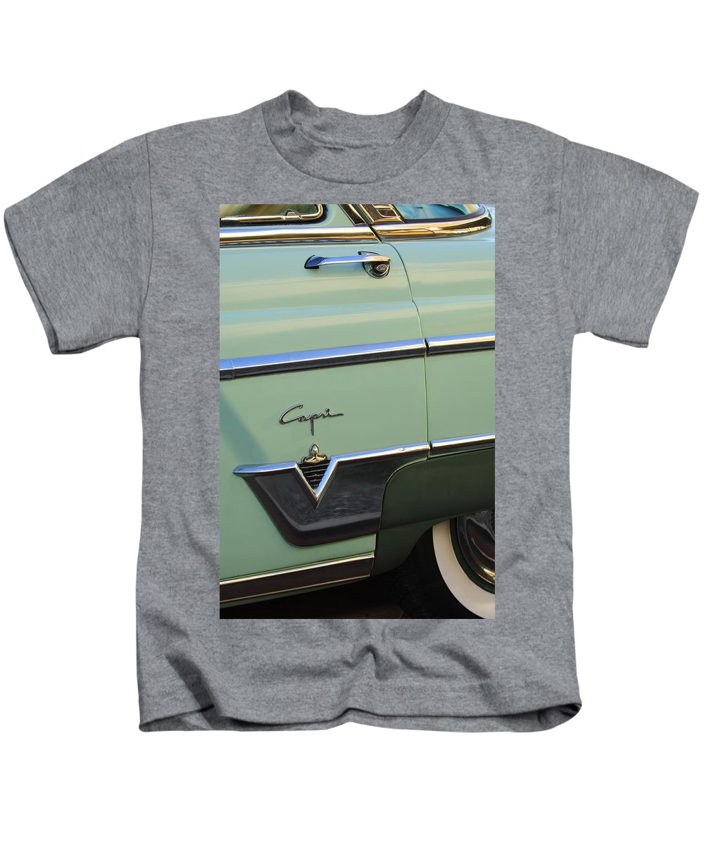 1954 Lincoln Capri Kids T-Shirt featuring the photograph 1954 Lincoln Capri by Jill Reger