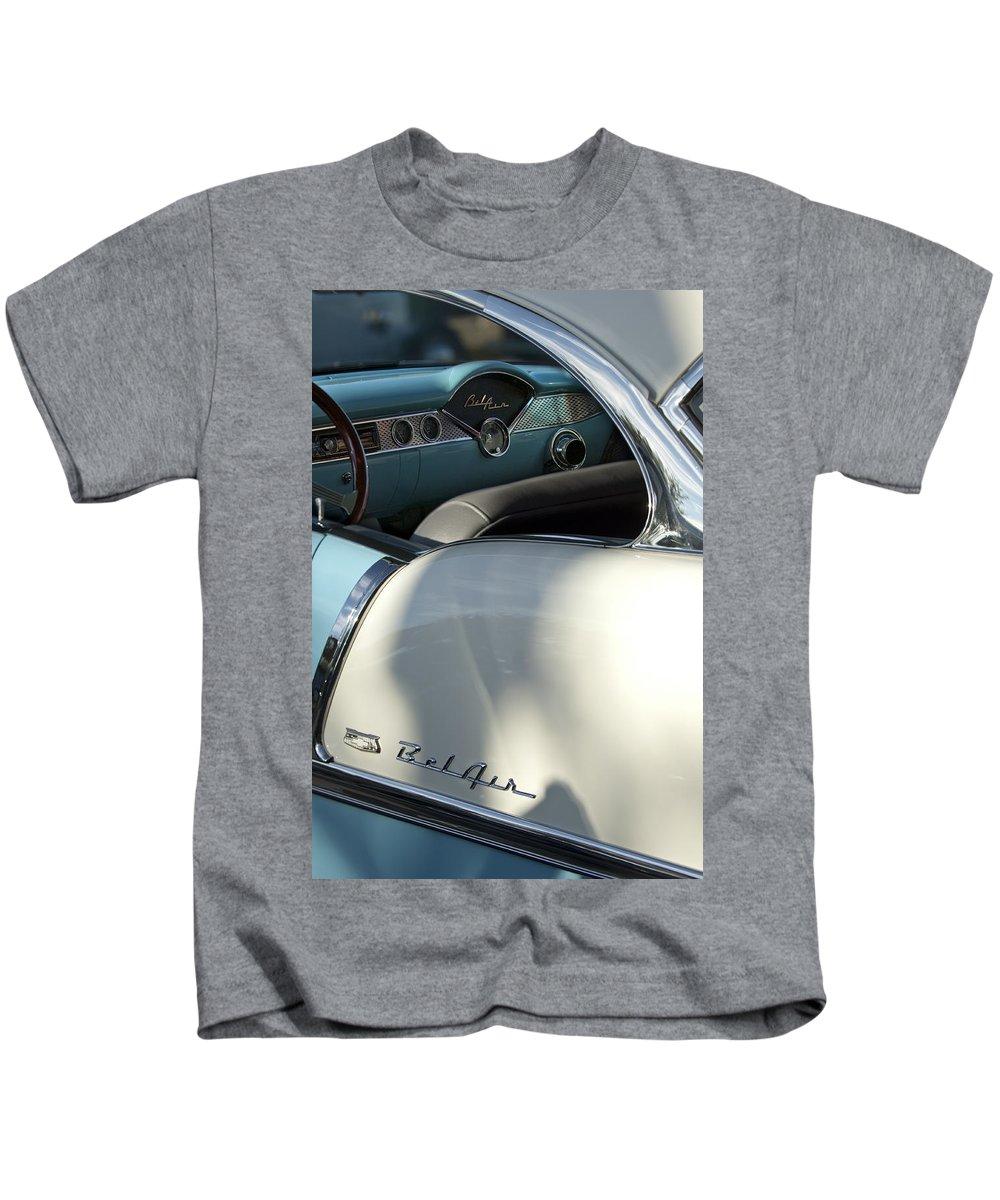 1955 Chevrolet Belair Kids T-Shirt featuring the photograph 1955 Chevrolet Belair Dashboard 2 by Jill Reger
