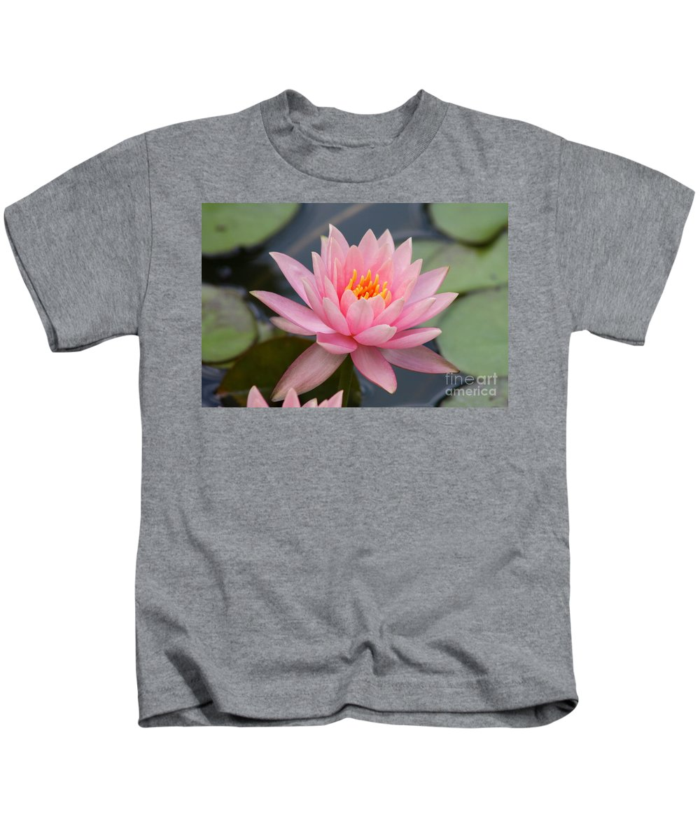 Waterlily Kids T-Shirt featuring the photograph Pink Waterlily by Christiane Schulze Art And Photography