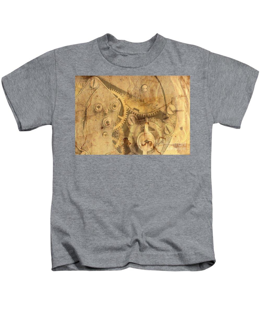 Paper Kids T-Shirt featuring the digital art Clockwork Mechanism by Michal Boubin