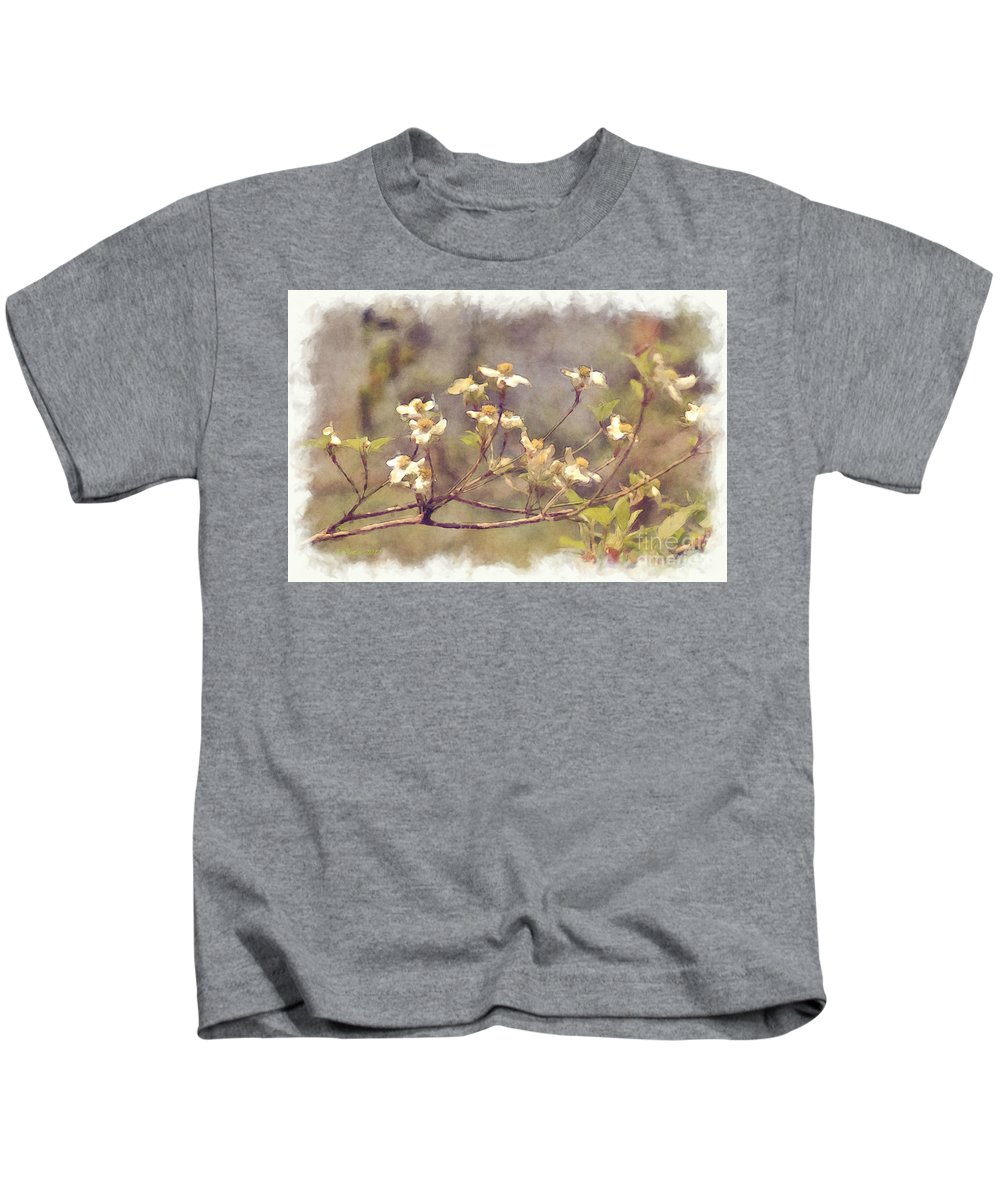 Flowers Kids T-Shirt featuring the photograph Dogwood by Donna Bentley