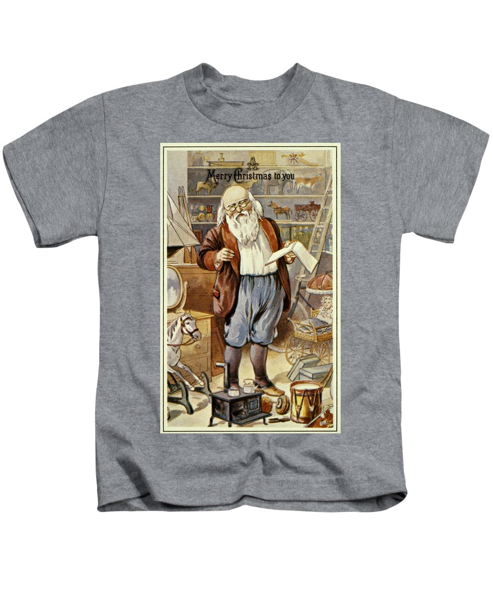 19th Century Kids T-Shirt featuring the photograph American Christmas Card by Granger