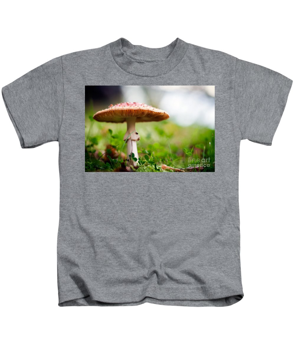 Agaric Kids T-Shirt featuring the photograph Amanita by Kati Finell