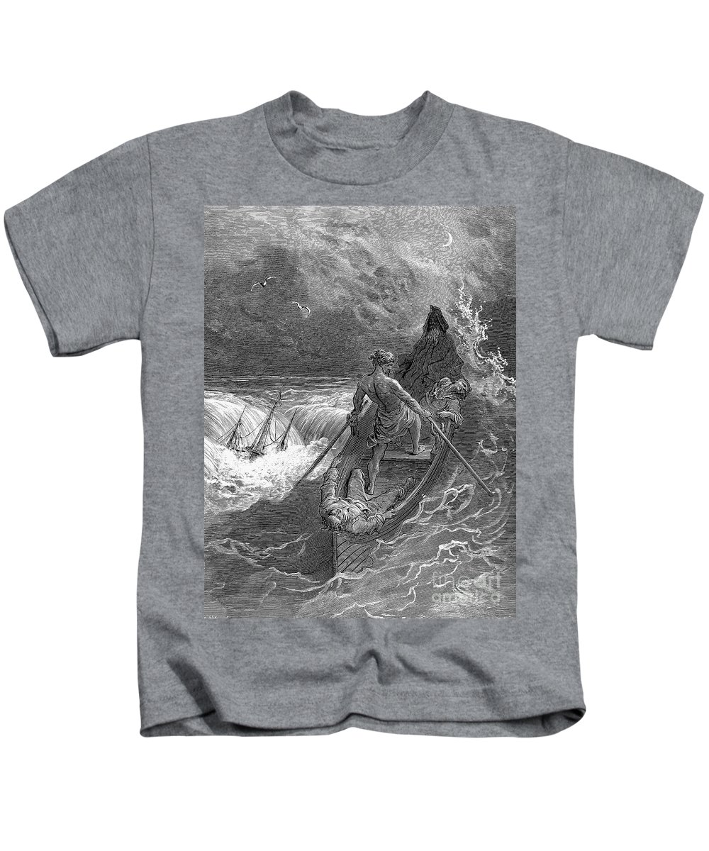 19th Century Kids T-Shirt featuring the photograph Coleridge: Ancient Mariner by Granger