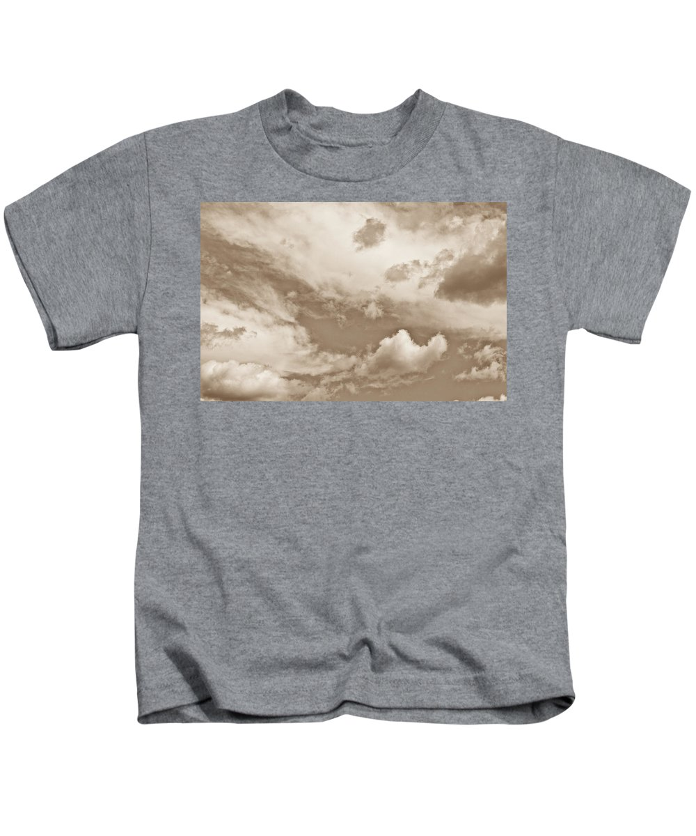 Skies Kids T-Shirt featuring the photograph English Summer Sky by David Pyatt