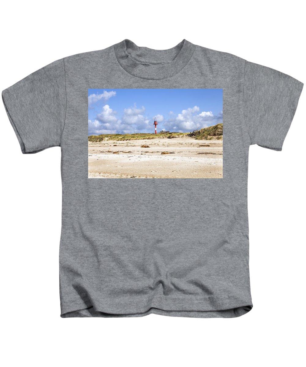 Cross Light Kids T-Shirt featuring the photograph Hoernum - Sylt by Joana Kruse